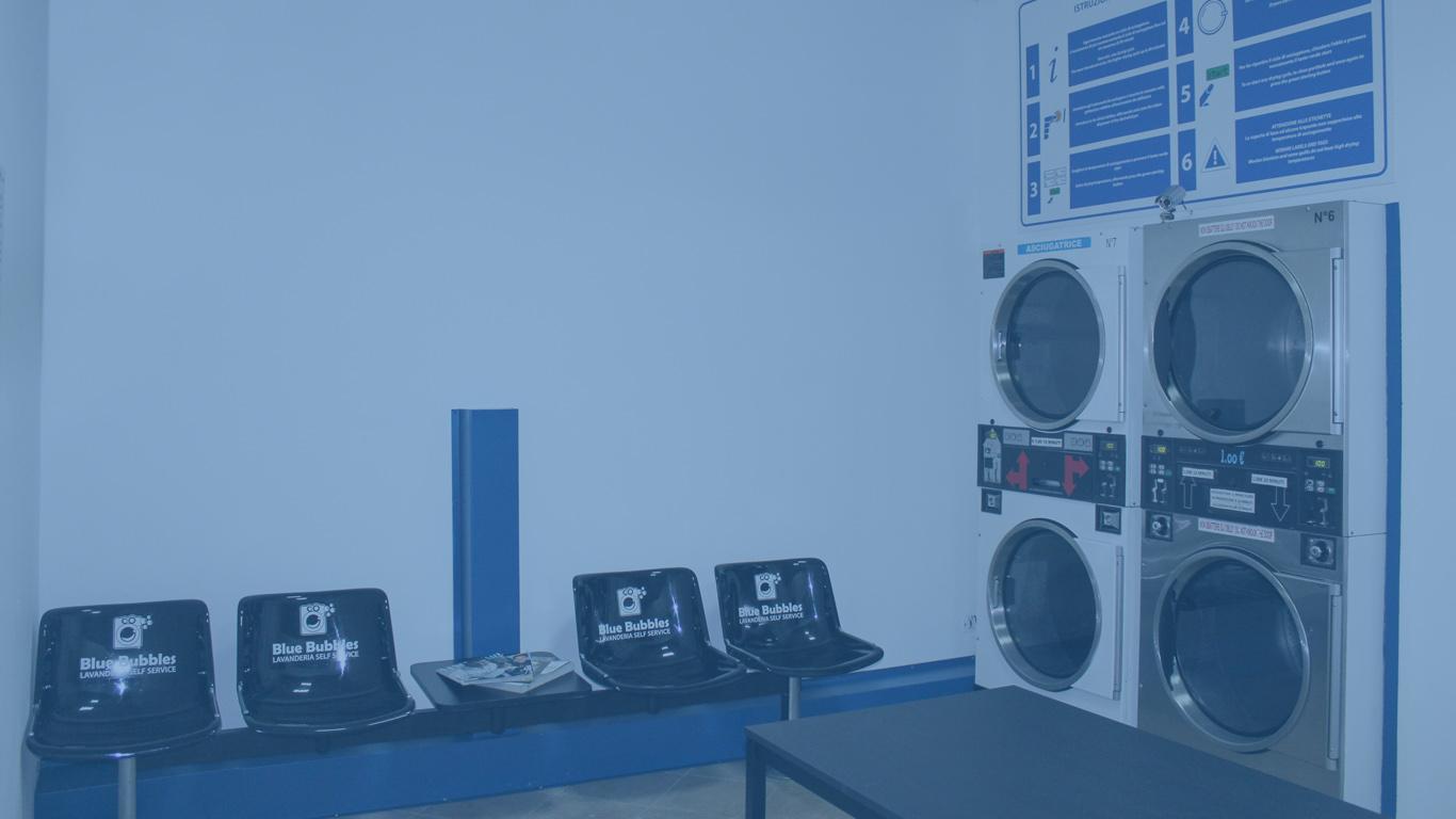 Asciugatori lavanderia self service Blue Bubbles